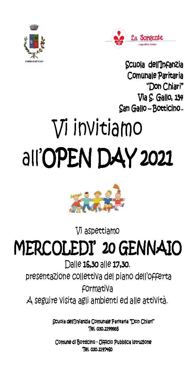 """Open day Scuola  dell'Infanzia  Comunale Paritaria """"Don Chiari"""" S. Gallo"""
